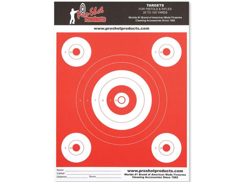 9x12 Bullseye Day Glow Heavy Target Paper