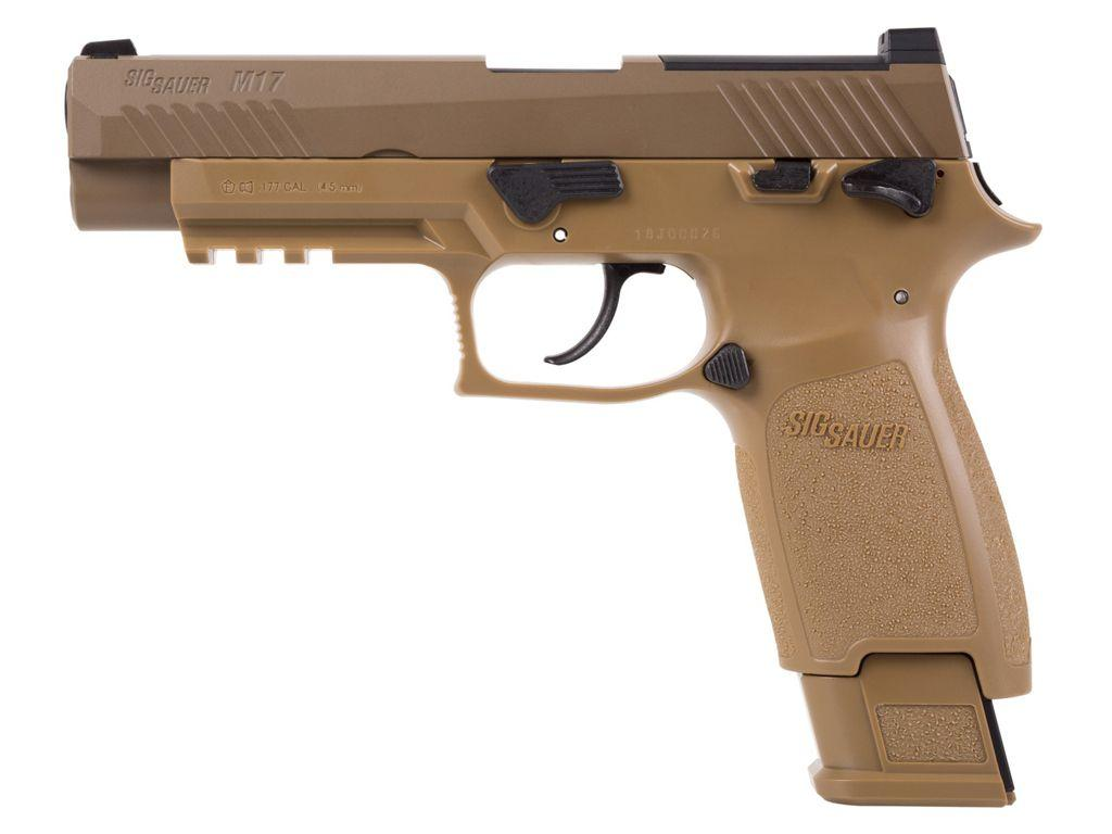 SIG Sauer M17 P320 ASP CO2 .177 Pellet Pistol - Coyote Tan