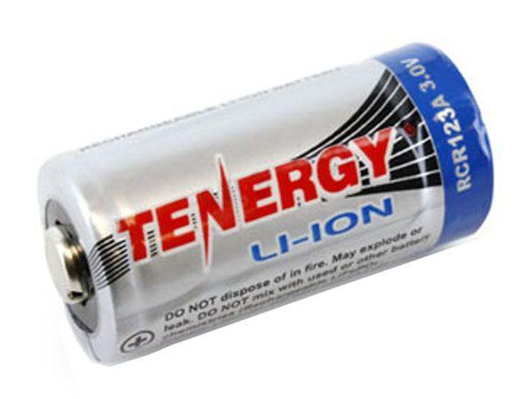 Tenergy RCR123A 3.0V 600mAh Li-Ion Rechargeable Battery - 10pack