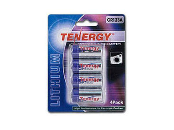 Tenergy 3V 1400mAh Propel Lithium Primary CR123A Batteries with PTC Protection - 4 Pack