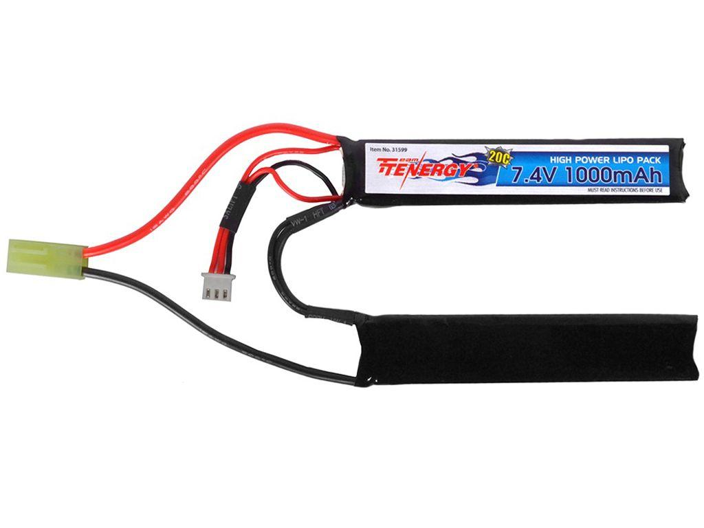 Tenergy 7.4V 1000mAh Li-Po Airsoft Butterfly Battery Pack