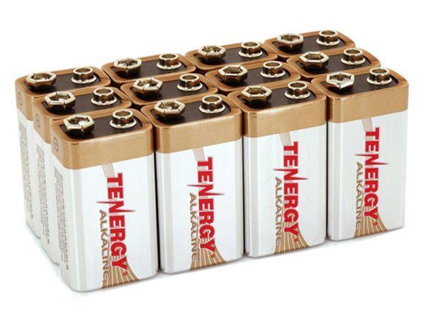 Tenergy 9V Alkaline Batteries - 12 Pack