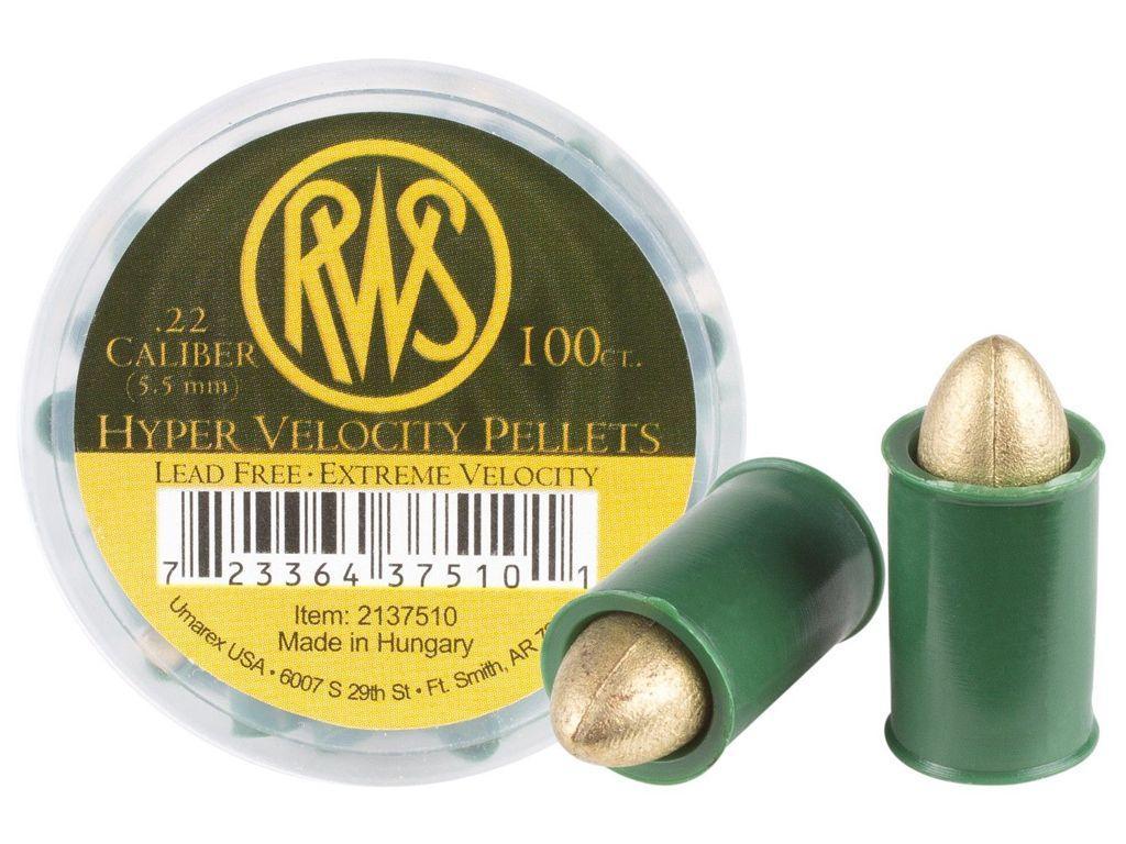 RWS Hyper Velocity .22 Cal Pellets 100-Pack