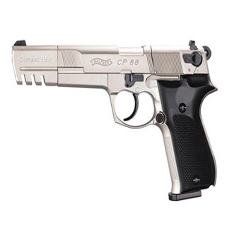 Walther Nickel Black CP88 Competition CO2 Pellet Pistol