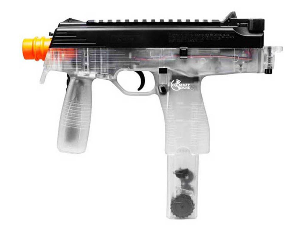 Combat Zone Mag 9 Clear Electric Machine Gun