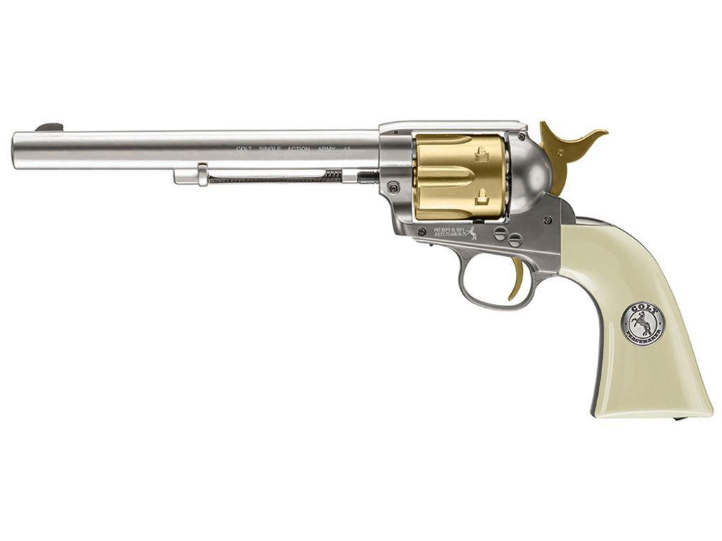 Colt Peacemaker Nickel & Gold CO2 Pellet Revolver