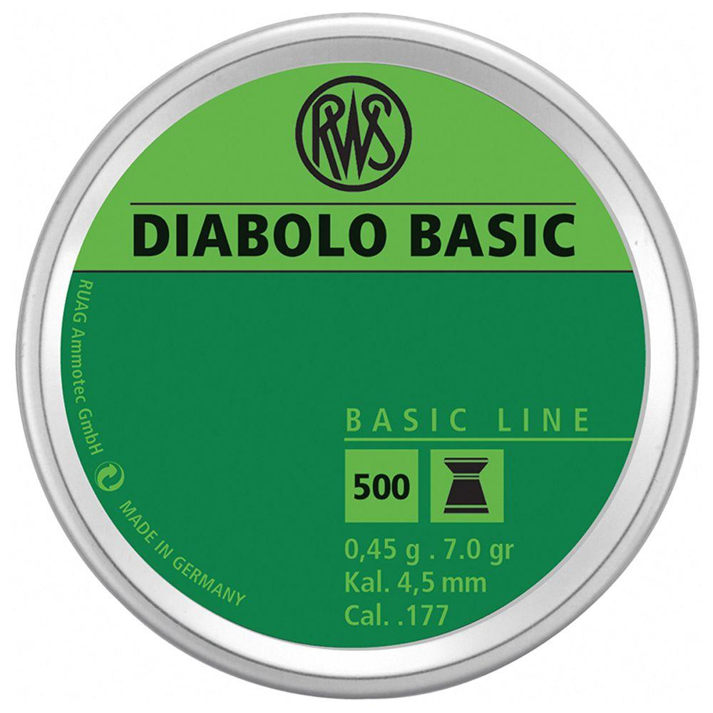 RWS Diabolo Basic 0.45 4.5Mm Pellets 500-Pack