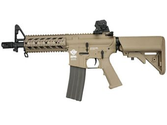 G&G CM16 M4 Combat Machine CQB Raider-S Tan Airsoft Rifle
