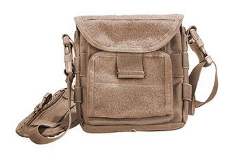 Shoulder Map Tan Bag