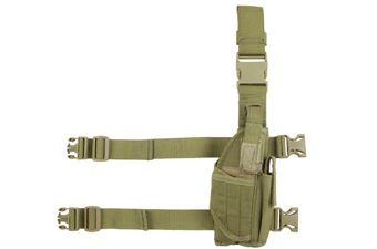 Tan Deluxe Tornado Tactical Holster -Right Leg