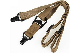 1 Or 2 Point Nylon Tactical Tan Sling
