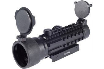 2x42 Tri-Rail Red and Green Dot Scope