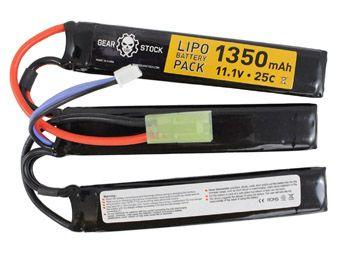 11.1V 1350mAh 25C LiPo AEG Butterfly Battery