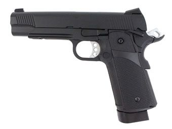 KJ Works 1911 Hi Capa KP-05 Full Metal CO2 Blowback Black Airsoft Pistol