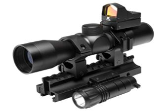 Ncstar Tactical Triple Threat Rifle Scope Combo