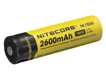 Nitecore 18650 Li-ion Battery 3.7V 2600mAh