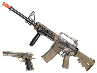 Colt M4/A1 RIS Spring Gun Airsoft Kit - Smoky/Tan