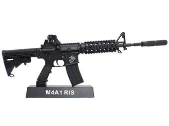 M4A1 RIS 1:4 Scale Model Rifle Display