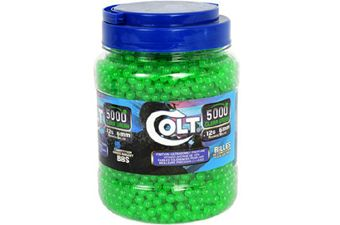 Colt Green Airsoft BBs .12g - 5000ct