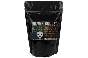 Silver Bullet Bio Airsoft BBs .32g - 2000ct