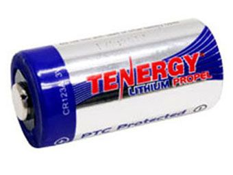 Tenergy 3V 1400mAh Lithium Primary CR123A Battery with PTC Protection