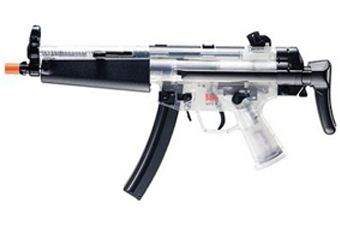Heckler And Koch Clear AEG MP5 A Retractable Airsoft Gun