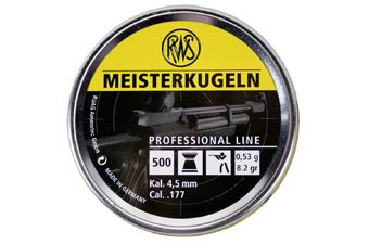 RWS Meisterkugeln 0.53 4.5Mm Pellets 500-Pack