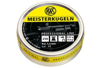 RWS Meisterkugeln 5.5mm .22 Pellets 250-Pack