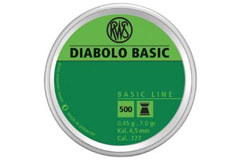 RWS Diabolo Basic 0.45 4.5Mm Pellets 500-Pack