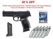 Halloween Deal - KWC SW40F Sigma C02 Airsoft Pistol