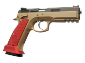 KJW CZ SP-01 GBB Pistol Red Grips