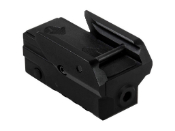 Black Compact Pistol Green Laser With Strobe