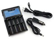 Tenergy T4 Intelligent 4-Bay Universal Charger