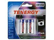Tenergy 3V 1400mAh Propel Lithium Primary CR123A Batteries with PTC Protection - 2 Pack
