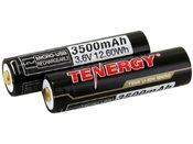 Tenergy 2 Pack Li-Ion 18650 3500mAh Protected Button Top Battery W/ USB Port